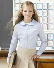 French Toast - Girls' Long Sleeve Peter Pan Poplin Shirt - E9321 School Uniform