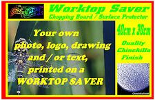 PERSONALISED Custom Printed WORKTOP SAVER /CHOPPING BOARD any photo picture text