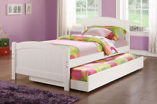 Daybed with Trundle In white Finish Youth Twin Bedroom Furniture