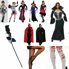LADIES HALLOWEEN OUTFITS SEXY FANCY DRESS COSTUMES ZOMBIE WITCH VAMPIRE LOT