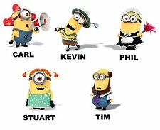 DESPICABLE ME MINION personalized Iron on Transfer 8x10- 5x6 -3x3 CHARACTERS