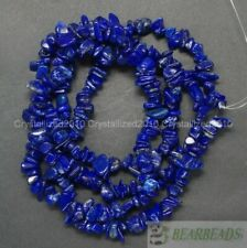 Natural AAA Lapis Lazuli Gemstone 5-8mm Chip Beads Spacer 35'' Bracelet Necklace
