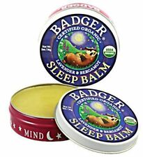 Badger Certified Organic Natural Sleep Aid Aromatherapy Sleep Balm 2 Sizes
