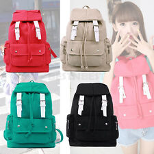 Korean Fashion Girl Casual Canvas Backpack Travel School Bag Bookbag Satchel