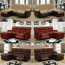 Leather sofa Furniture 2 Piece Living room set Sectional Sofa Couch In 6 Colors