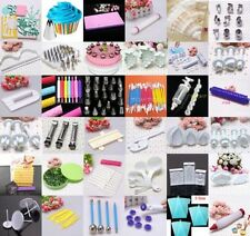 Mix 45 Styles Cake Cookies Decorating Sugarcraft Fondant Modelling Tool Bag Mold