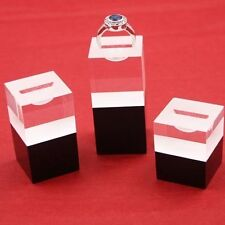 3x Acrylic Ring Stands Solid Block, Various Colours & Quantities