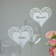 Luxury Wedding, Anniversary, Christmas, Hearts Table Decoration Place Name Cards