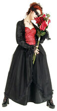 Eternal Love Scarlet Black Gothic Crucifix Roses Belle Dame Gown Dress XS S