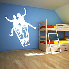 BILL AND TED ON TELEPHONE BOX Film characters VINYL WALL ART STICKER DECAL