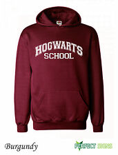 HOGWARTS SCHOOL  HARRY POTTER SCHOOL Hoodie S - XXL  - Burgundy