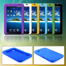 1pc Gel Rubber Case Cover For Samsung Galaxy Tab GT- P1000 Tablet Colorful
