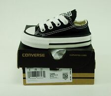 Converse Shoes All Star Black Baby Low Top Chuck Taylor Boys Canvas Sneakers