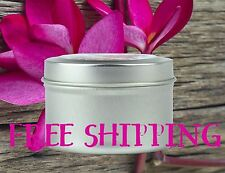 All Natural Soy Candle Tins 6oz with Essential & Natural Oils - Choose Scent
