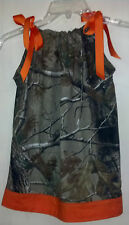Baby Girl Camo/Camouflage Pillowcase Dress Sz 0-18 Month *New Handmade*
