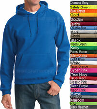 Jerzees Mens Hooded Sweatshirt Blended Hoodie Top Jumper Hoody S-4XL 28 COLORS!