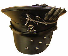 Steampunk Military syle hat with bullets,spikes and zip