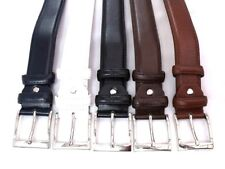 MENS NEW HIGH QUALITY BONDED LEATHER BELT DESIGNED WITH SILVER BUCKLE 311/40