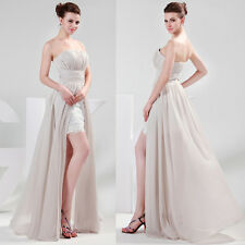 New Chiffon+Lace High-Low Sexy Ballgown Formal Wedding Evening Prom Party Dress