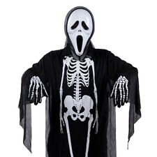 Black Skeleton Scary Halloween Costume One Size Adult Grim Reaper Ghost Monster