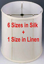 Classic Drum Lamp Shades 6 Sizes Tall Cylinder Stiffel Lampshades Silk Shantung