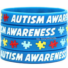 Set of 5 Autism Awareness Wristbands - Silicone Bracelets Bands - Show Support