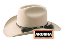 Akubra Rough Rider Western Felt Hat - Light Sand