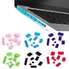 9PC Popular Silicone Anti Dust Plug Ports Cover Set For Laptop Macbook Pro 13 15