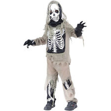 SKELETON OUTFIT BOYS SKELETON HALLOWEEN FANCY  DRESS  OUTFIT 3-10 YRS