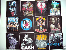 VARIOUS BLACK UNISEX MUSIC ROCK BAND T-SHIRTS TO CHOOSE FROM