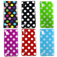 New Polka Dots TPU Gel Rubber Soft Case Cover Back For LG Optimus L9 P760 P768