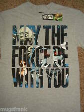 Star Wars May The Force Be With You Vader,Obi Won,Yoda T-Shirt Nwt S XL XXL