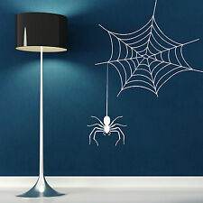 SPIDER AND WEB SPIDERS WEB Vinyl wall art sticker decal