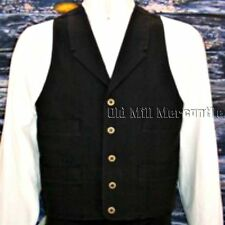 mens Frontier Classics BLACK single breasted OLD WEST Cowboy  western vest S-3X