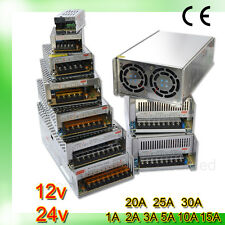 UK Stock DC12/24V Universal Regulated Switching Power Supply for LED Strip/ CCTV