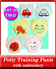 Two 4-Layers Waterproof Embroidery Potty Training Pants