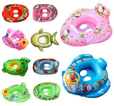 Baby Swimming Seat Ring Infant Inflatable Aid Trainer Various Cartoon Designs