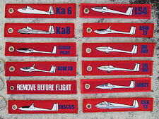 REMOVE BEFORE FLIGHT 6er Set Segelflugzeug / AVION / PLANE / GLIDER / YAKAiR