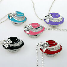 5 Colour Choose HatCap Shape Quartz Lady Necklace Pendant Watch GL07
