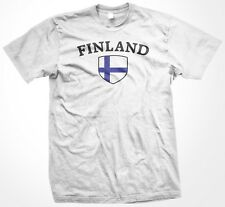 Finland Finnish Country Crest Flag Colors Nationality Ethnic Pride -Mens T-shirt