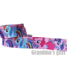 "1""25mm My Little Pony Printed Grosgrain Ribbon 5/50/100 Yards Hairbow Wholesale"
