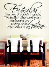 Family Ties Are Precious Threads...Wall Quotes,Home Decor,Wall Stickers w151