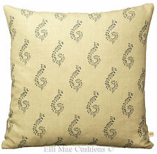 Susie Watson Shalini Graphite Shabby Chic Vintage Style Cushion Pillow Cover