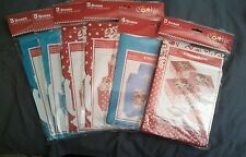 NISP Christmas Holiday Treat Cookie Cupcake boxes Blue Snowflake or Red Toile