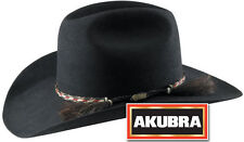 Akubra Rough Rider Western Felt Hat - Black