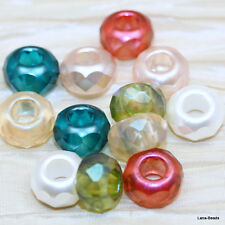**Pick Your Color **  10pcs 14x9mm LARGE HOLE RONDELLE FP CZECH BEADS - AWESOME