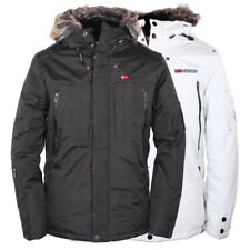 Geographical Norway Cluses B55 Winter Herren Jacke Parka  Schwarz/Weiß