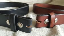 "Handmade Amish Leather Belt for Men or Women 1 1/2"" width and NO Buckle"