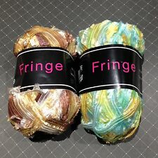 REDUCED!! Knit One Crochet Too Fringe Ribbon Yarn + Free Scarf Knitting Pattern!