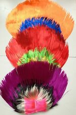 Multi Color Mohawk Hair Wig Punk Rocker Hairstyle Halloween Costume Party Rock